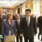 Xi Jinping and Annette Nijs